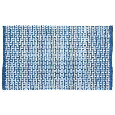 Tattersall Plaid Hand-Woven Blue Area Rug