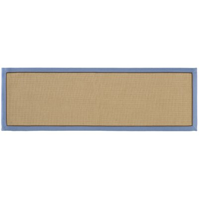 York Machine Woven Slate Blue Area Rug Rug Size: Runner 26 x 8