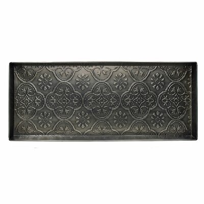 Medallion Boot Tray Color: Zinc