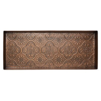 Medallion Boot Tray Color: Antique Copper