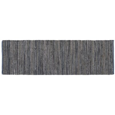 Monterey Hand-Woven Dove Gray Area Rug Rug Size: Runner 26 x 8