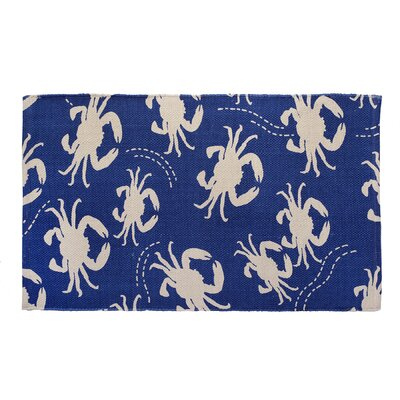 Crab Blue Area Rug