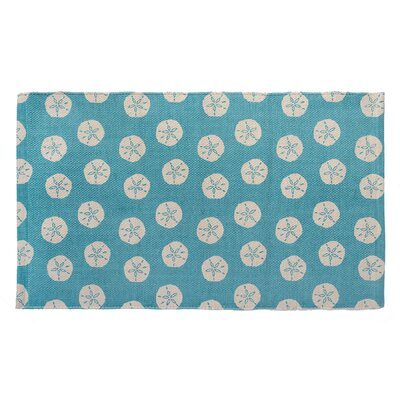 Sand Dollar Hand Woven Turquoise Area Rug