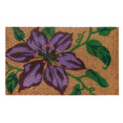 Low Profile Flatweave Clematis Doormat
