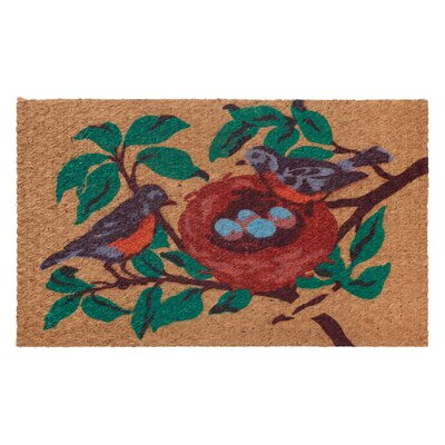 Low Profile Flatweave Bird Doormat