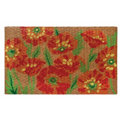 Low Profile Flatweave Poppy Doormat