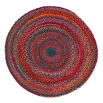 Carnivale Braided Red Area Rug Rug Size: Round 5