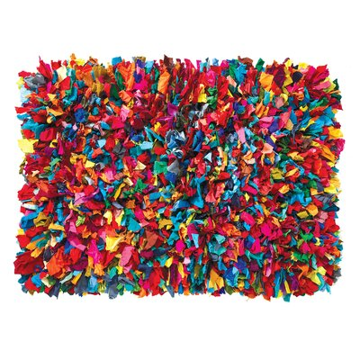 Fiesta Hand-Woven Red/Blue/Yellow Area Rug Rug Size: 2 x 3
