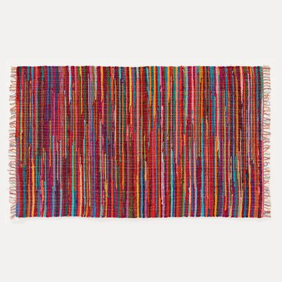 Mardi Gras Hand-Woven Red Area Rug Rug Size: 2' x 3'