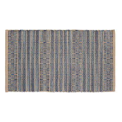 Sahara Jacquard Khaki/Blue Area Rug Rug Size: 23 x 39