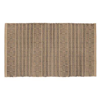 Sahara Hand Woven Khaki/Gray Area Rug Rug Size: 23 x 39