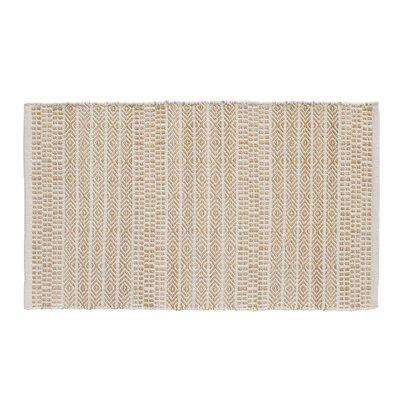 Sahara Jacquard Natural/Biscuit Area Rug Rug Size: 23 x 39