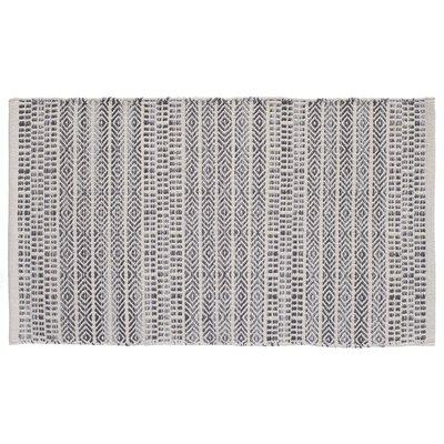 Sahara Hand-woven Natural/Gray Area Rug Rug Size: 19 x 210