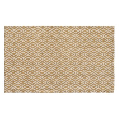 Waves Hand-Woven Biscuit Area Rug Rug Size: 23 x 39