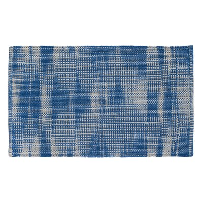 Tie Dye Basketweave Denim Area Rug Rug Size: 23 x 39