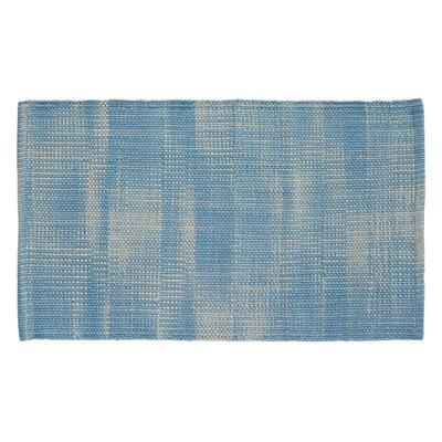Tie Dye Basketweave Sky Blue Area Rug Rug Size: 23 x 39
