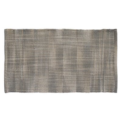 Tie Dye Basketweave Warm Gray Area Rug Rug Size: 23 x 39