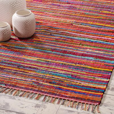 Mardi Gras Hand-Woven Red Area Rug Rug Size: 3'8