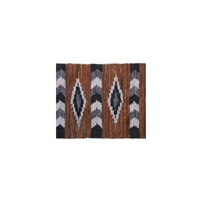 Snake River Canyon Leather Brown/Black Indoor Area Rug