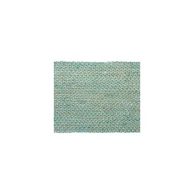 Valencia Braided Hand Woven Cotton Teal Area Rug Rug Size: Runner 23 x 6