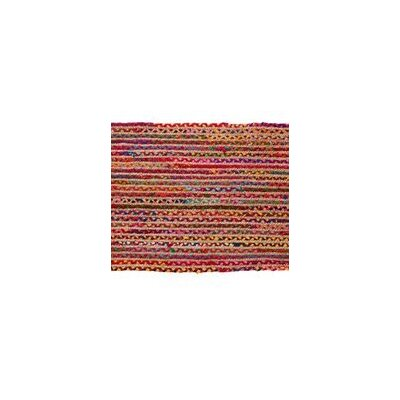 Valencia Braided Hand Woven Cotton Red Area Rug Rug Size: Runner 23 x 6