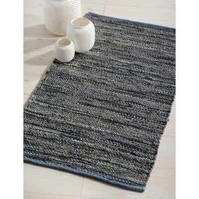 Monterey Hand-Woven Dove Gray Area Rug Rug Size: 23 x 39