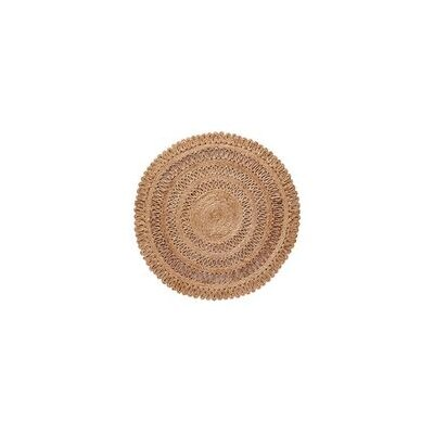 Lillian Hand Braided Natural Area Rug Rug Size: Round 60 W x 60 L