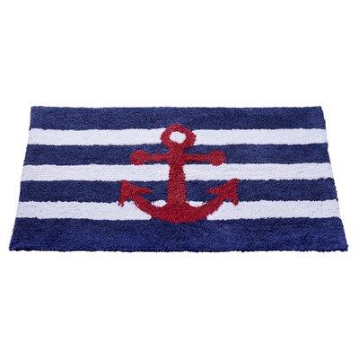 Anchor Stripe Bath Rug