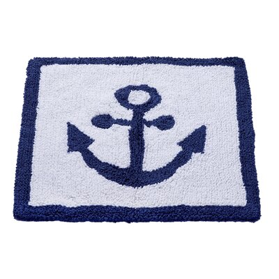 Anchor Hand-Woven White/Blue Area Rug
