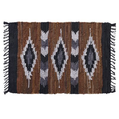 Snake River Canyon Hand Woven Brown/Black Area Rug Rug Size: 2' x 3'