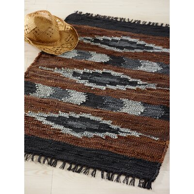 Snake River Canyon Hand Woven Brown/Black Area Rug Rug Size: 2'3