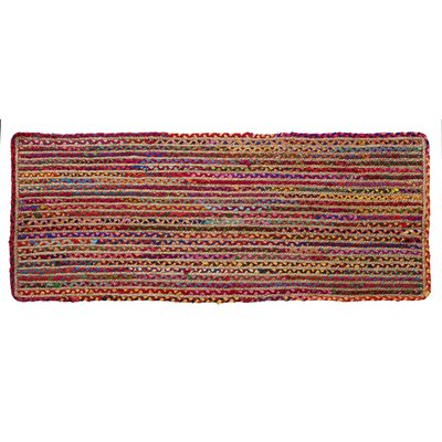 Valencia Braided Hand Woven Red Area Rug Rug Size: Runner 23 x 6