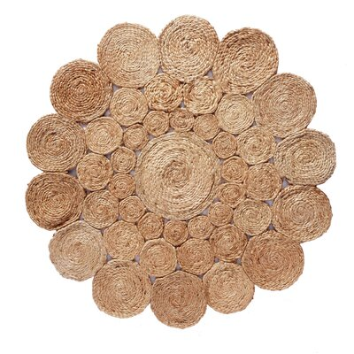 Avery Hand Braided Natural Area Rug Rug Size: Round 36 W x 36 L