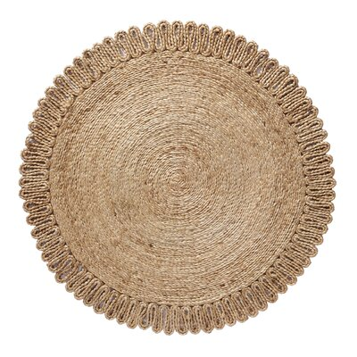 Chloe Hand Braided Natural Area Rug Rug Size: Round 36 W x 36 L