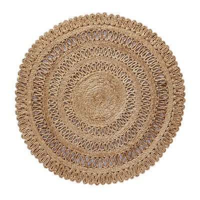 Lillian Hand Braided Natural Area Rug Rug Size: Round 36 W x 36 L