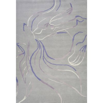 Sawyer Hand-Tufted Gray Area Rug Rug Size: 37 x 55