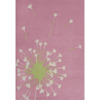 Hand-Tufted Pink Area Rug Rug Size: 5 x 73