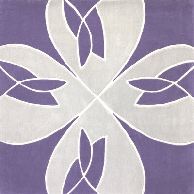 Ebner  Hand-Tufted Purple Area Rug