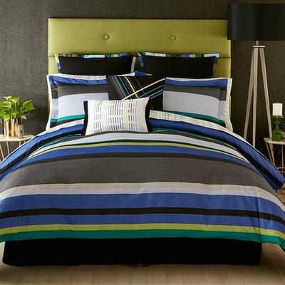 Chic Stripe 3 Piece Comforter Set Size: Full/Queen