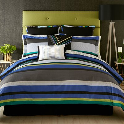 Chic Stripe 200 Thread Count 100% Cotton Sheet Set Size: Queen