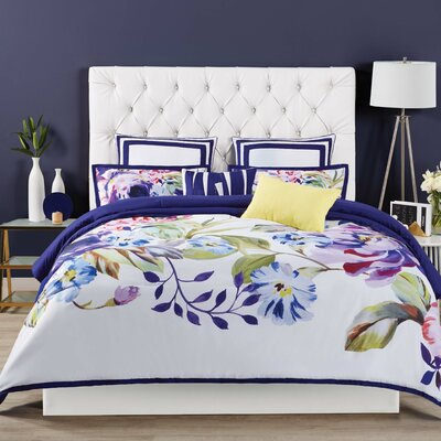 Garden Bloom 3 Piece Duvet Set Size: King