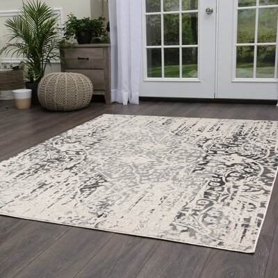 Jersey Medallion Beige Area Rug Rug Size: Rectangle 79 x 102