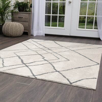 Roma Tribal Gray Area Rug Rug Size: Rectangle 53 x 72