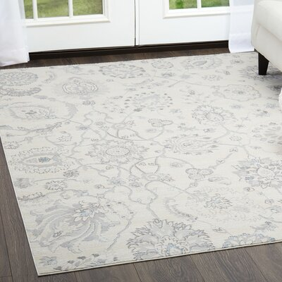 Brooksville Light Gray Area Rug Rug Size: Rectangle 79 x 102