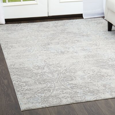 Brooksville Gray Area Rug Rug Size: Rectangle 53 x 72