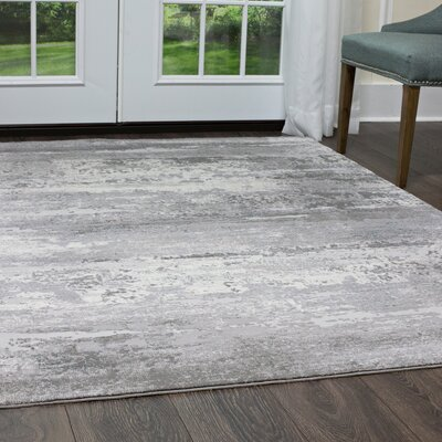 Brooksville Charcoal/Gray Area Rug Rug Size: Rectangle 53 x 72
