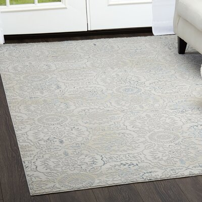 Brooksville Elegant Gray Area Rug Rug Size: Rectangle 53 x 72