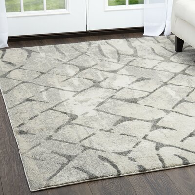 Roma Diamond Gray Area Rug Rug Size: Rectangle 5
