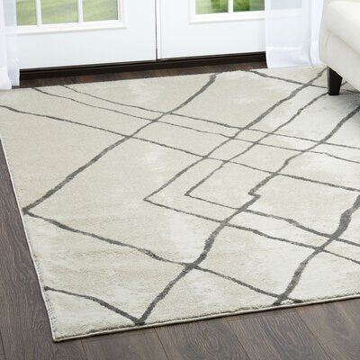 Roma Tribal Gray Area Rug Rug Size: Rectangle 79 x 102
