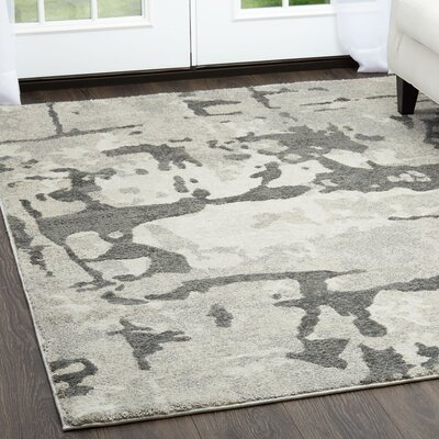 Roma Marble Gray Area Rug Rug Size: Rectangle 2